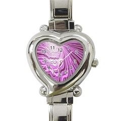Light Pattern Abstract Background Wallpaper Heart Italian Charm Watch by Nexatart