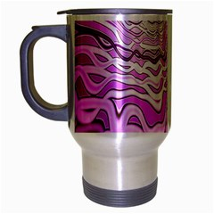 Light Pattern Abstract Background Wallpaper Travel Mug (silver Gray) by Nexatart