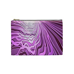 Light Pattern Abstract Background Wallpaper Cosmetic Bag (medium)