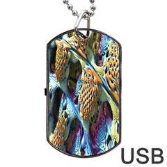 Background, Wallpaper, Texture Dog Tag Usb Flash (two Sides) by Nexatart