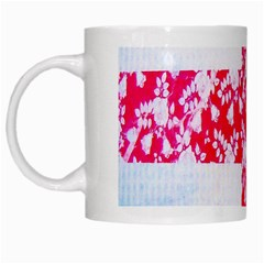 British Flag Abstract British Union Jack Flag In Abstract Design With Flowers White Mugs by Nexatart