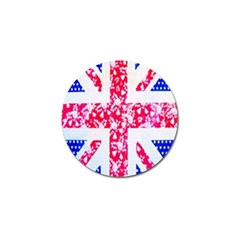 British Flag Abstract British Union Jack Flag In Abstract Design With Flowers Golf Ball Marker (4 Pack) by Nexatart