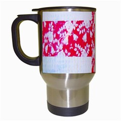 British Flag Abstract British Union Jack Flag In Abstract Design With Flowers Travel Mugs (white) by Nexatart