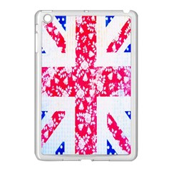 British Flag Abstract British Union Jack Flag In Abstract Design With Flowers Apple Ipad Mini Case (white) by Nexatart