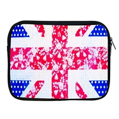 British Flag Abstract British Union Jack Flag In Abstract Design With Flowers Apple Ipad 2/3/4 Zipper Cases by Nexatart