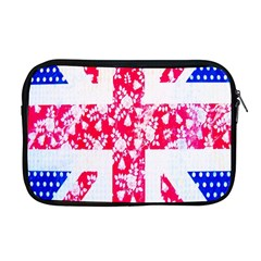 British Flag Abstract British Union Jack Flag In Abstract Design With Flowers Apple Macbook Pro 17  Zipper Case