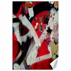 Abstract Graffiti Background Wallpaper Of Close Up Of Peeling Canvas 24  X 36  by Nexatart