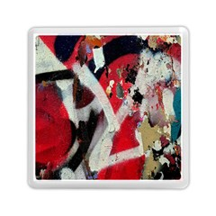 Abstract Graffiti Background Wallpaper Of Close Up Of Peeling Memory Card Reader (square)  by Nexatart