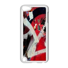 Abstract Graffiti Background Wallpaper Of Close Up Of Peeling Apple Ipod Touch 5 Case (white) by Nexatart