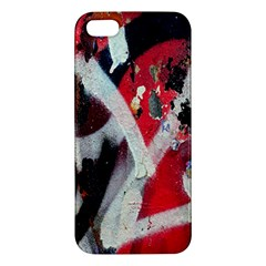 Abstract Graffiti Background Wallpaper Of Close Up Of Peeling Apple Iphone 5 Premium Hardshell Case by Nexatart
