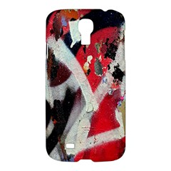 Abstract Graffiti Background Wallpaper Of Close Up Of Peeling Samsung Galaxy S4 I9500/i9505 Hardshell Case by Nexatart