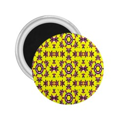 Yellow Seamless Wallpaper Digital Computer Graphic 2 25  Magnets by Nexatart