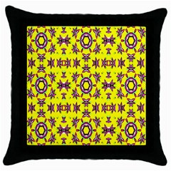 Yellow Seamless Wallpaper Digital Computer Graphic Throw Pillow Case (black) by Nexatart