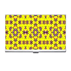 Yellow Seamless Wallpaper Digital Computer Graphic Business Card Holders by Nexatart