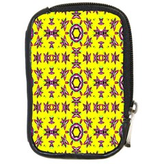 Yellow Seamless Wallpaper Digital Computer Graphic Compact Camera Cases by Nexatart