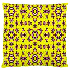 Yellow Seamless Wallpaper Digital Computer Graphic Large Cushion Case (two Sides) by Nexatart