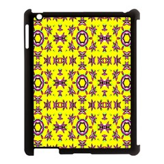 Yellow Seamless Wallpaper Digital Computer Graphic Apple Ipad 3/4 Case (black) by Nexatart