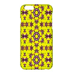 Yellow Seamless Wallpaper Digital Computer Graphic Apple Iphone 6 Plus/6s Plus Hardshell Case by Nexatart