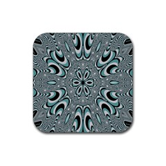 Kaleidoskope Digital Computer Graphic Rubber Square Coaster (4 Pack)  by Nexatart