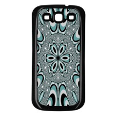 Kaleidoskope Digital Computer Graphic Samsung Galaxy S3 Back Case (black) by Nexatart
