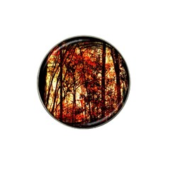 Forest Trees Abstract Hat Clip Ball Marker (10 Pack) by Nexatart