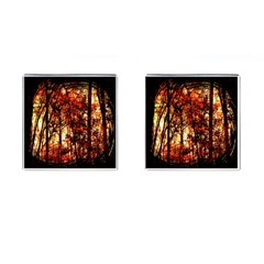 Forest Trees Abstract Cufflinks (square) by Nexatart