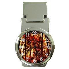 Forest Trees Abstract Money Clip Watches