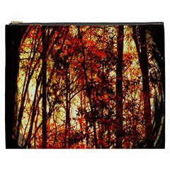 Forest Trees Abstract Cosmetic Bag (xxxl)  by Nexatart