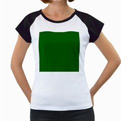 Dark Plain Green Women s Cap Sleeve T by Jojostore