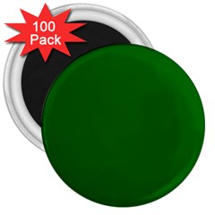 Dark Plain Green 3  Magnets (100 Pack) by Jojostore