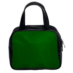 Dark Plain Green Classic Handbags (2 Sides) by Jojostore