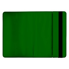 Dark Plain Green Samsung Galaxy Tab Pro 12 2  Flip Case by Jojostore