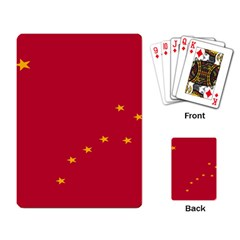 Alaska Star Red Yellow Playing Card by Jojostore