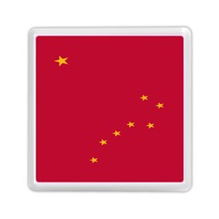 Alaska Star Red Yellow Memory Card Reader (square)  by Jojostore