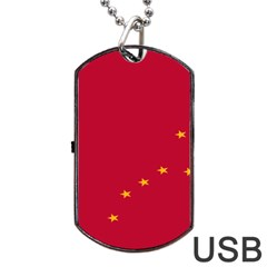 Alaska Star Red Yellow Dog Tag Usb Flash (two Sides) by Jojostore