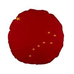 Alaska Star Red Yellow Standard 15  Premium Flano Round Cushions by Jojostore