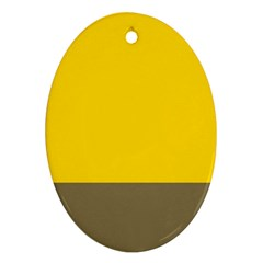 Trolley Yellow Brown Tropical Ornament (oval) by Jojostore