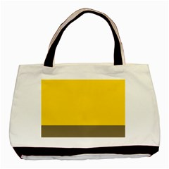 Trolley Yellow Brown Tropical Basic Tote Bag (two Sides) by Jojostore