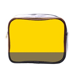 Trolley Yellow Brown Tropical Mini Toiletries Bags
