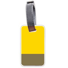 Trolley Yellow Brown Tropical Luggage Tags (two Sides) by Jojostore