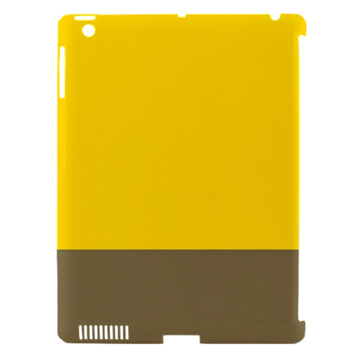 Trolley Yellow Brown Tropical Apple iPad 3/4 Hardshell Case (Compatible with Smart Cover)