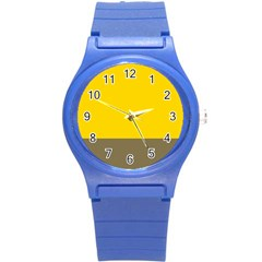 Trolley Yellow Brown Tropical Round Plastic Sport Watch (s) by Jojostore
