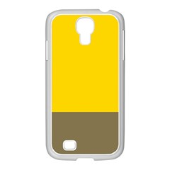 Trolley Yellow Brown Tropical Samsung Galaxy S4 I9500/ I9505 Case (white) by Jojostore