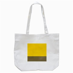 Trolley Yellow Brown Tropical Tote Bag (white) by Jojostore