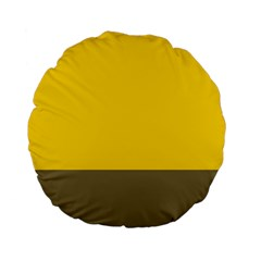 Trolley Yellow Brown Tropical Standard 15  Premium Flano Round Cushions by Jojostore