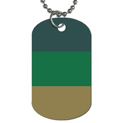 Blue Green Brown Dog Tag (one Side) by Jojostore