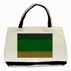 Blue Green Brown Basic Tote Bag (two Sides) by Jojostore