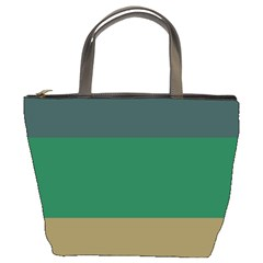 Blue Green Brown Bucket Bags by Jojostore