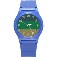 Blue Green Brown Round Plastic Sport Watch (s) by Jojostore