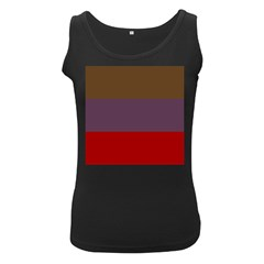 Brown Purple Red Women s Black Tank Top by Jojostore